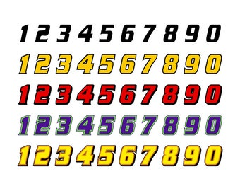 Racing Numbers SVG - Download Digital Clipart Silhouette Vector Files