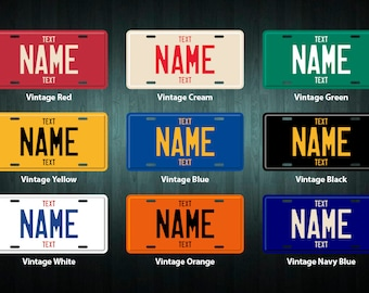 Custom USA Style License Plate (choose your text, color, size, material)