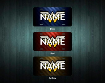 Custom Wonder Woman License Plate (choose your text, color, size, material)