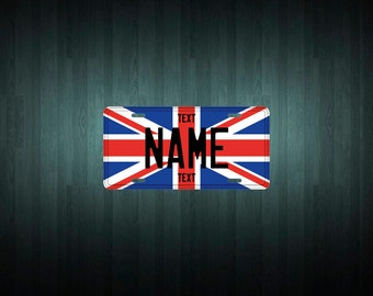 Custom United Kingdom Licence Plate (choose your text, size, material)