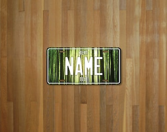 Personalised Forest License Plate (choose your text, color, size, material)