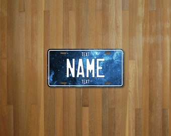 Personalised Blue Stars License Plate (choose your text, color, size, material)