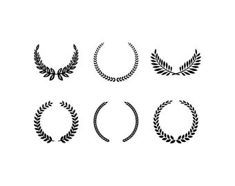 Wreaths - Download Digital Clipart Silhouette Vector Files
