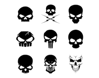 Skull Symbols - Download Digital Clipart Silhouette Vector Files