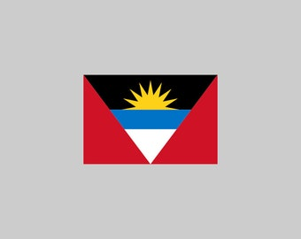 Antigua And Barbuda Flag - Download Digital Clipart Silhouette Vector Files