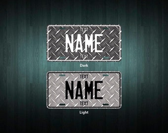 Custom Checker Plate License Plate (choose your text, color, size, material)