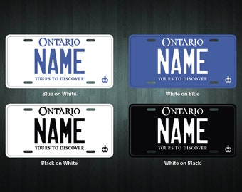 Custom Ontario Style License Plate (choose your text, size, material)