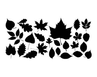 Leaves - Download Digital Clipart Silhouette Vector Files
