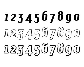 Outlined Numbers #15 - Download Digital Clipart Silhouette Vector Files