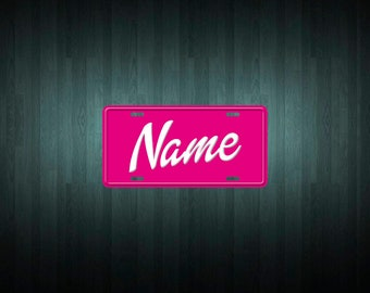 Custom Barbie Style License Plate (choose your text, color, size, material)