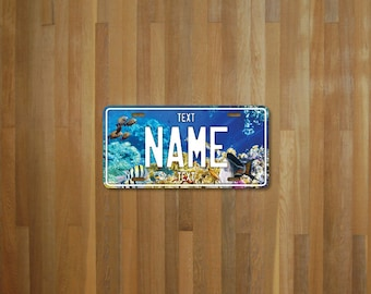 Personalised Aquarium License Plate (choose your text, color, size, material)