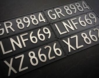 Replica Number Plates