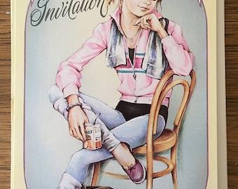 1980's | Teenage Girl | Party Invitations