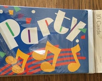 Retro   Vintage   Birthday Party   Invitations