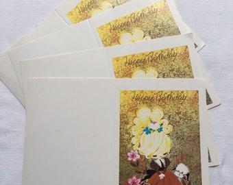 Vintage | Big Eyed Girl | Birthday | Cards
