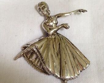Lang Sterling Silver Dancer Brooch