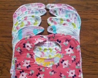 Baby Bib,Baby Bib Gift Set, Girly Baby Bib, Baby Shower Gift, Girls Baby Bib