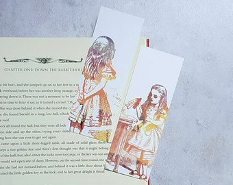 Alice in Wonderland Bookmarks literary gifts literary quotes bookworm gifts for her book lover geek gifts quote bookmark, literary bookmark
