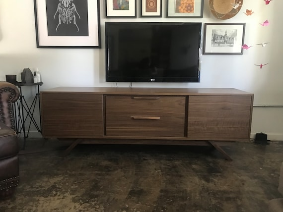 New Hand Built Mid Century Style Tv Stand Buffet Credenza Etsy