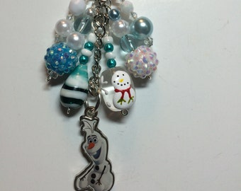 Olaf (from Frozen) purse/backpack/planner charm