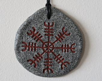 Galdrastafur wall plaque; Ægishjálmur (Icelandic runes, magical staves, Ásatrú, vikings)