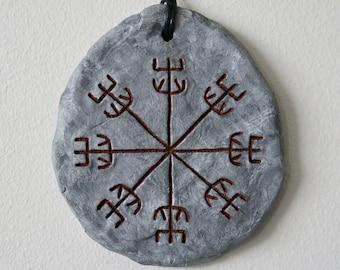 Galdrastafur wall plaque; Salómons insigli (Icelandic runes, magical staves, Ásatrú, vikings)