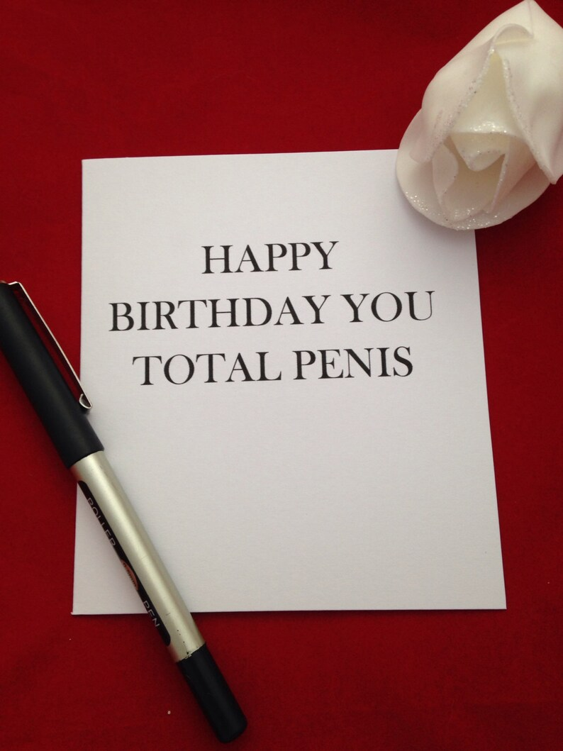 Happy Birthday Penis Total Card Offensive
