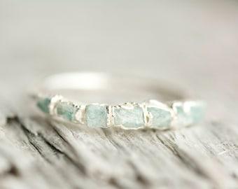 Amazonite Ring. Amazonite Band. Amazonite Band Ring. Amazonite Wedding Band Ring. Raw Amazonite Ring