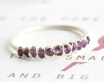 Amethyst Ring.Amethyst Band Ring.Eternity Amethyst Ring.Amethyst Wedding Band Ring.Amethyst Wedding Ring.Amethyst Wedding