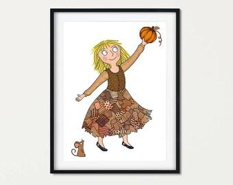 Cinderella Art Literary Gift - Literary Gift Print - Girls Room Fairytale gift - Traditional Story Wall Art - Girls Gift Cinderella nursery