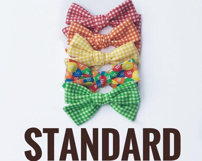 STANDARD gingham hair bows // gingham bows // M&M hair bows // summer hair bows // fun hair bows // vintage style bows // vintage bows