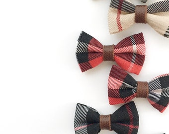 Acacia>> MINI size // tartan plaid hair bows // Burberry style hair bow // Burberry hair bow // fall hair bows // newborn headbands
