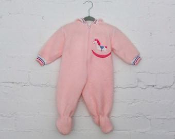 Hippy Retro Vintage Alternative 70s Floral Print Baby Girl Boy Sleepuit Outfit