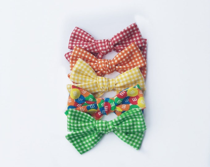 OVERSIZED gingham hair bows // gingham bows // M&M hair bows // summer hair bows // fun hair bows // vintage style bows // vintage bows