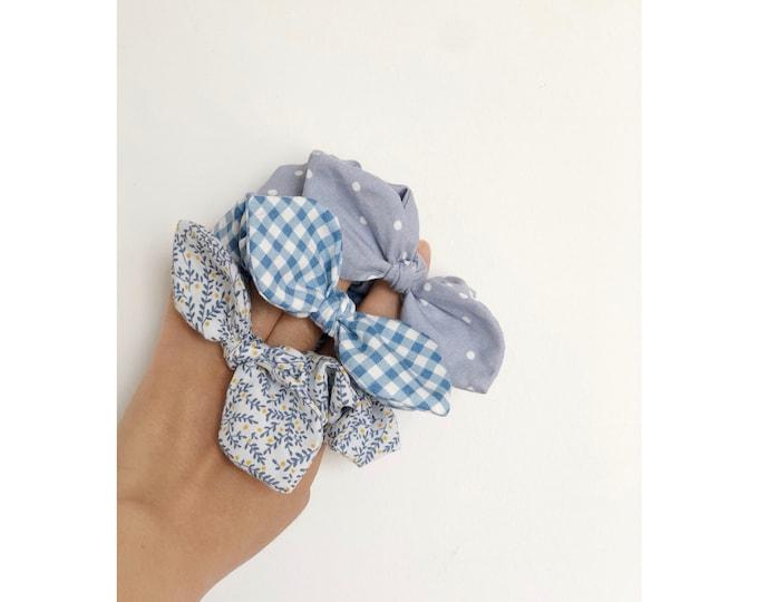 modern scrunchies / minimalist scrunchies / cotton scrunchies / boho scrunchies / summer print scrunchies / modern and simple / scrunchies