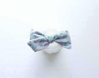 VINTAGE>> juniper berry vintage upcyled cotton hair bow // vintage hair bow // fabric hair bow // baby hair bow // newborn headbands