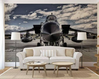 Airplane Bedroom Decal Kids Airplane Wall Mural Decal Plane Etsy