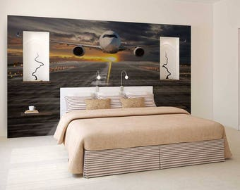 Airplane wallpaper Etsy