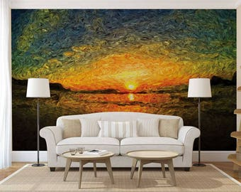 Nature mural Etsy