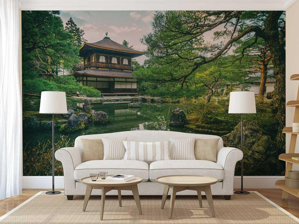 Wall Mural Chinese Tree Chinese Tree Wall Decal Wallpaper Etsy