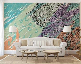 Mandala Wallpaper Wall Mural Bohemian Boho