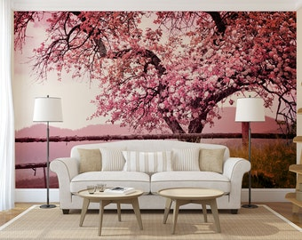Cherry Blossom Tree MURAL, self adhesive peel and stick photo wall mural