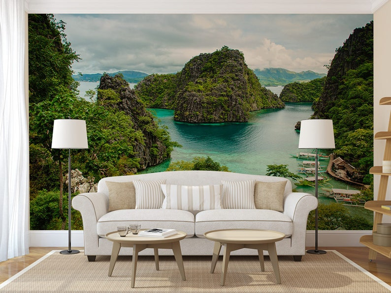 philippines nature wall decal photo wall mural peel and etsyimage 0