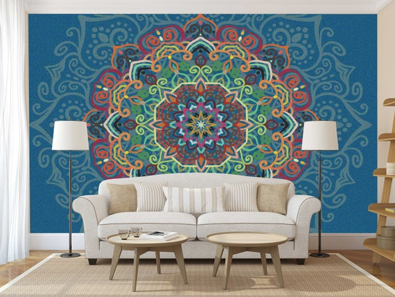 Mandala Decal Mandala Wall Decal Mandala Wallpaper Mandala Etsy