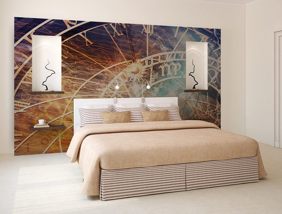 fond d cran horloge astrologie art mural papier peint etsy. Black Bedroom Furniture Sets. Home Design Ideas