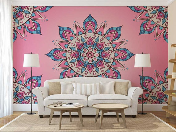 Mandala Wallpaper Wall Mural Bohemian
