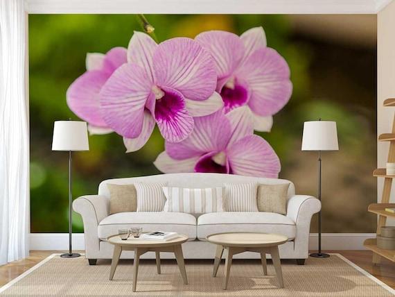 Wand Wandbild Blumen Orchidee Wandtattoo Blume Etsy