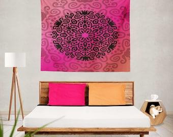 Mandala Tapestry Wall Hanging, Mandala Tapestry Bedroom, Mandala Tapestry Room, Mandala Tapestry, Mandala Tapestries, Mandala Wall Hanging