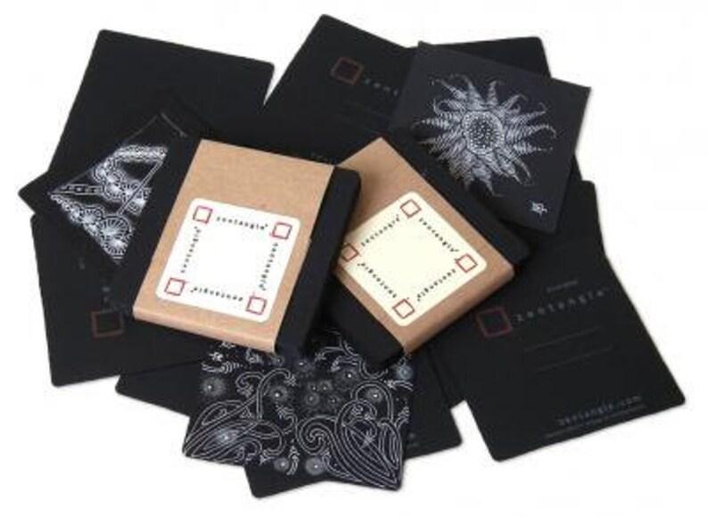 Black Zentangle® Tiles  25 Pack image 0