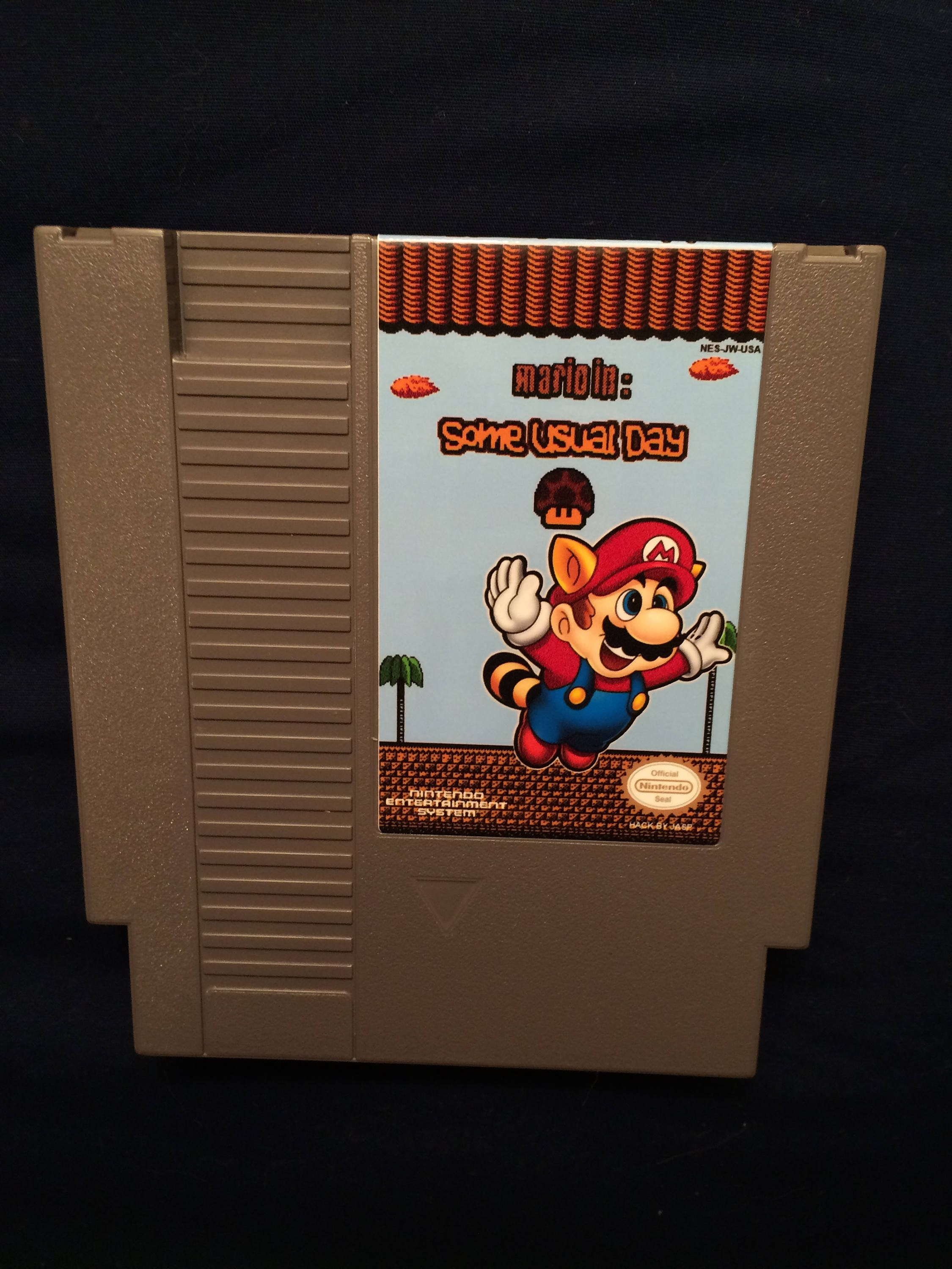 Mario In Some Usual Day Rom Hack Of Super Mario Bros 3 Nes Etsy